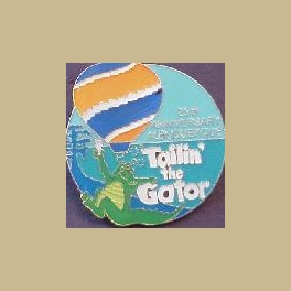 1996 ALBUQUERQUE HOT AIR BALLOON PIN LARGE TAILIN THE GATOR