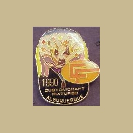 1990 ALBUQUERQUE HOT AIR BALLOON PIN CUSTOM CRAFT FIXTURES