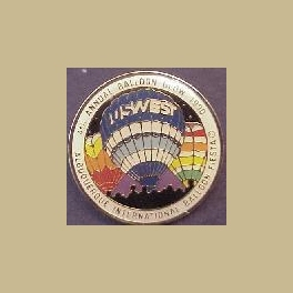 1990 ALBUQUERQUE HOT AIR BALLOON PIN US WEST BALLOON GLOW