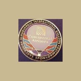 1995 ALBUQUERQUE HOT AIR BALLOON PIN CONTINENTAL AIRLINES