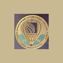 1996 ALBUQUERQUE HOT AIR BALLOON PIN CONTINENTAL AIRLINES 25th ANNIVERSARY