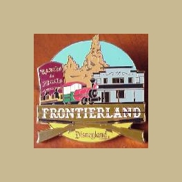 LARGE 2007 DISNEY CAST FEBRUARY PIN OF THE MONTH FRONTIERLAND PIN BENEGAL BARBECUE LTD 500