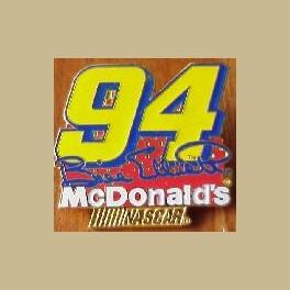 NASCAR RACING PIN BILL ELLIOTT SIGNATURE DRIVER 94 MCDONALDS GOLD NASCAR