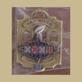 RARE BRONZE SUPER BOWL 32 NFL PLAYERS BRONCOS  PACKERS PIN ONLY 350 MINT IN SEALED BAG