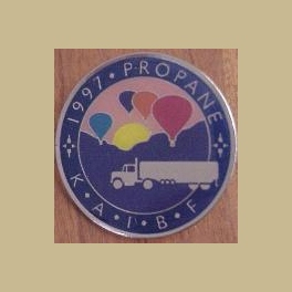 1997 ALBUQUERQUE HOT AIR BALLOON PIN PROPANE SPONSOR