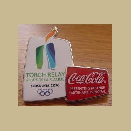 VERY RARE 2010 VANCOUVER OLYMPICS PIN COCA COLA TORCH RELAY STAFF