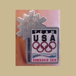 2010 VANCOUVER OLYMPICS USOC OLYMPIC NOC TEAM NORDIC COMBINED ATHLETE PIN