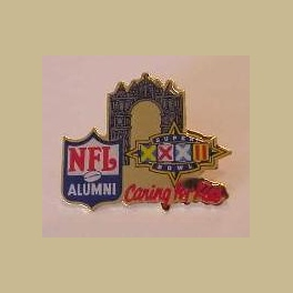 SUPER BOWL 32 NFL ALUMNI PROMO CHARITY BRONCOS PACKERS PIN