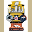PRE-ORDER 2016 SUPER BOWL MEDIUM BRONCOS CHAMPION PIN
