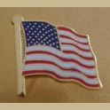 UNITED STATES FLAG PIN - GOLD PLATING HIGH QUALITY CLOISONNE 34