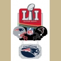 PRE-ORDER 2017 SUPER BOWL 51 CHAMPION PIN PATRIOTS VS FALCONS LARGE DANGLE