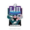 PRE-ORDER SUPER BOWL 52 MEDIUM CHAMPION PIN EAGLES VS PATRIOTS