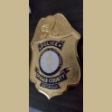 RARE ATLANTA OLYMPICS DEKALB COUNTY SHERIFF FULL SIZE POLICE BADGE INDIV. D ON BACK