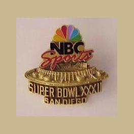 SUPER BOWL 32 SAN DIEGO NBC SPORTS MEDIA PIN