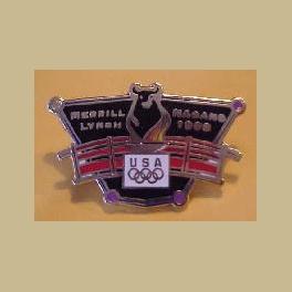 NAGANO 1998  OLYMPIC MERRILL LYNCH SPONSOR BULL PIN