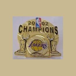 LAKERS NBA BASKETBALL 2002 CHAMPIONS PIN