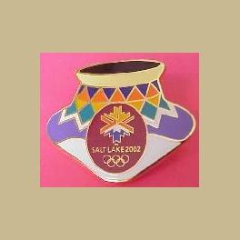 SALT LAKE CITY 2002 OLYMPICS  INDIAN POTTERY DESIGN 1 PIN