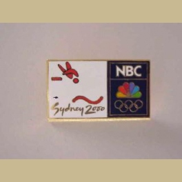 2000 Sydney Olympics Pin NBC media guest diving pin trader