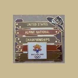 SLC 2002 OLYMPIC US ALPINE NATL CHAMPIONSHIPS 1999 VOLUNTEER PIN