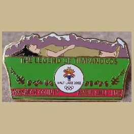 SLC 2002 OLYMPIC LEGEND OF TIMPANOGOS WASATCH COUNTY AMBULANCE EMS MEDICAL PIN