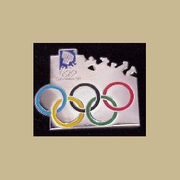 LILLEHAMMER 1994 OLYMPICS IOC INTERNATIONAL OLYMPIC COMMITTEE RINGS PIN