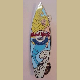 HARD ROCK CAFE PIN HRC NEWPORT BEACH SURFBOARD MERMAID PIN