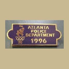 1996 ATLANTA OLYMPICS ATLANTA POLICE DEPT UNIFORM BAR PIN
