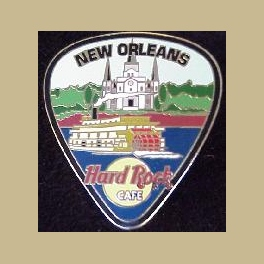 HARD ROCK CAFE PIN NEW ORLEANS 2003 CITY GUITAR PIC