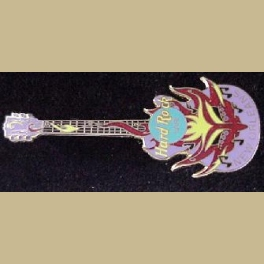 HARD ROCK CAFE PIN NEW ORLEANS MASK GUITAR PIN