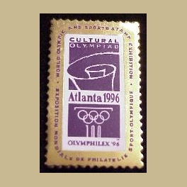 1996 ATLANTA OLYMPICS PIN CULTURAL OLYMPIAD STAMP SHAPE PIN