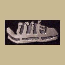 1994 LILLEHAMMER OLYMPICS PIN 4 MAN BOBSLED CUTOUT PICTOGRAM PIN