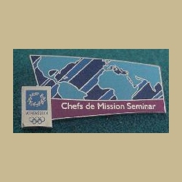 2004 ATHENS OLYMPICS PIN CHEFS DE MISSION SEMINAR INTERNAL PIN