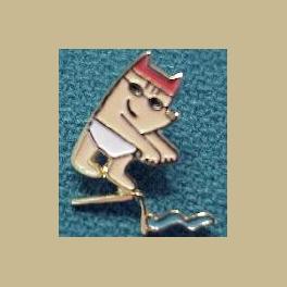 1992 BARCELONA OLYMPIC PINS COBI MASCOT SWIMMING PIN