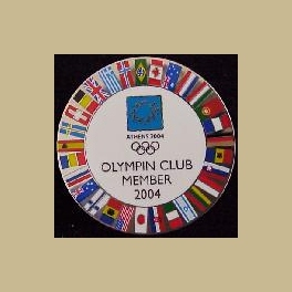 2004 ATHENS OLYMPIC PINS OLYMPIN CLUB MEMBER FLAG OF NATIONS PIN
