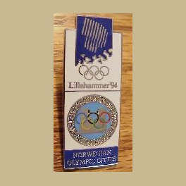 1994 LILLEHAMMER OLYMPIC PINS OLYMPIC CITIES BRIDGE OSLO 1952 TO LILLEHAMMER