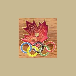 1994 LILLEHAMMER OLYMPIC PINS LARGE RED CANADA NOC MAPLE LEAF PIN
