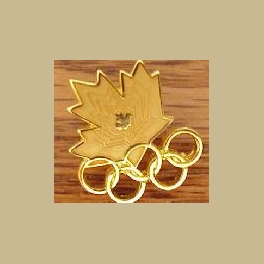 1994 LILLEHAMMER OLYMPIC PINS CANADA NOC SMALL ALL GOLD MAPLE LEAF