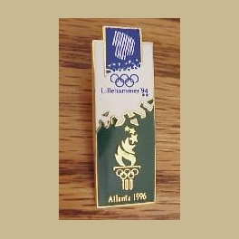 1994 LILLEHAMMER OLYMPIC PINS ATLANTA GREEN WHITE BRIDGE PIN