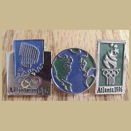 1994 LILLEHAMMER OLYMPIC PINS ATLANTA BRIDGE HORIZONTAL PIN
