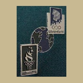 1994 LILLEHAMMER OLYMPIC PINS ATLANTA BRIDGE VERTICAL PIN