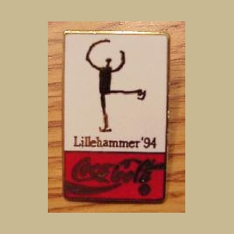 1994 LILLEHAMMER OLYMPIC PINS COCA COLA ICE SKATING CLOISONNE