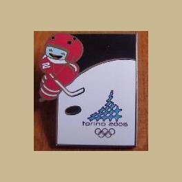 2006 TORINO OLYMPIC PINS MASCOT ICE HOCKEY SPORT
