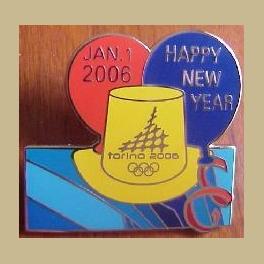 2006 TORINO OLYMPIC PINS HAPPY NEW YEAR JANUARY 1 2006