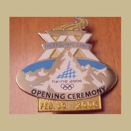 LARGE RARE 2006 TORINO OLYMPIC PIN OPENING CEREMONY DATED