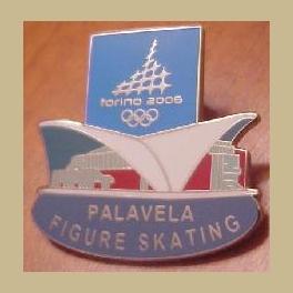 2006 TORINO OLYMPIC PIN VENUE FIGURE SKATING