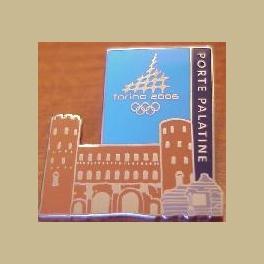 2006 TORINO OLYMPIC PIN PORTE PALATINE ROMAN WALLS OLD FORTRESS