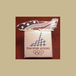 2006 TORINO OLYMPIC PINS BOBSLED PATRIOTIC SPORT PIN