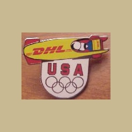 2006 TORINO OLYMPIC PINS DHL US TEAM SPONSOR BOBSLED