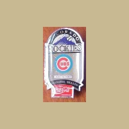 1993 MLB COLORADO ROCKIES PIN INAUGURAL SEASON CUBS COCA COLA SPONSOR