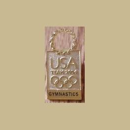 2004 ATHENS OLYMPICS PINS USA TEAM NOC GOLD WREATH GYMNASTICS TEAM